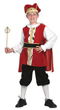 Childs Boys Medieval Tudor King Fancy Dress Costume Book Week Christmas Nativity Medium Age 7 - 9