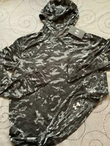 UNDER ARMOUR HEATGEAR BLACKOUT CAMO MK1 FITTED HOODIE SHIRT SIZE L MEN $75.00
