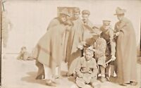 WW1 SOLDIERS-HAIRCUT OR TORTURE-MILITARY REAL PHOTO POSTCARD 1910s