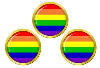 Gay Arc-En-Ciel Marqueurs de Balles de Golf
