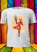 Pin Up Devil Girl Vintage Retro Evil T-shirt Vest Tank Top Men Women Unisex 2330
