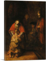 ARTCANVAS The Return of the Prodigal Son Canvas Art Print by Rembrandt van Rijn