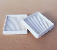 "2 of 3 x 3"" SquareRubber Furniture Floor Castor CupsPads Carpet Protector Rests"