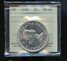 1958 Canada Silver Dollar ICCS Certified MS64 DCB112