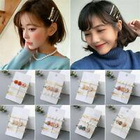 3Pcs/Set Pearl Hair Clip Hairband Comb Bobby Pin Barrette Hairpin Headdress Hot