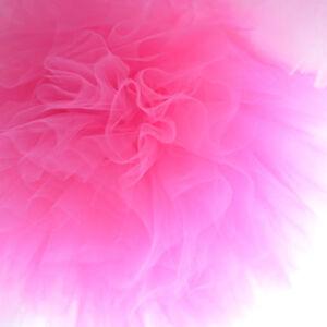 Hot pink tulle pompoms - tutu - wedding party decorations - nursery decor