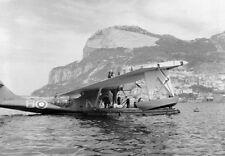 AIRCRAFT AT GIBRALTAR DURING WWII -15 PHOTOS - HURRICANES, CATALINAS, SPITFIRES