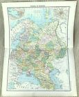 Antique Map of European Russia Western Russian Empire Territory 19thC Old  1893