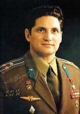 More details for boris volynov cosmonaut soyuz signed autograph 12x8 photo coa aftal