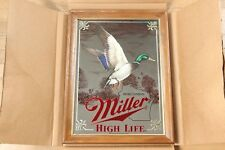 Miller High Life Beer Mirror Duck 4th in Sportsmens Series Vintage