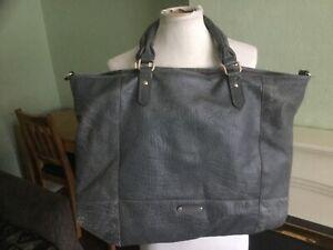 Large Brampton London genuine leather shopper tote bag