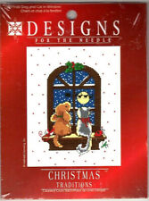 Dog & Cat Christmas Traditions DFTN Counted Cross Stitch Kit FREE P&P (UK)