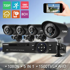 8CH 1080N HDMI DVR CCTV IR Cut Outdoor 1500TVL Home Security Camera System Kits