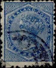 NEW ZEALAND - 1873-1878 - 6 P.  Legende NEW ZEALAND POSTAGE Filigrane N