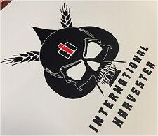 International Harvester Skull IH Farmal Tractor Vinyl Decals Stickers