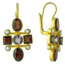 Venetian Garnet Cross Earrings: Museum of Jewelry