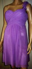 EVER PRETTY Lilac One Shoulder Petal Lined  Summer Party Cocktail Dress Size 10