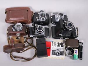 Konvolut (5) verschied. alter Kameras, Voigtländer, Kodak, Belfoa...  3N8752