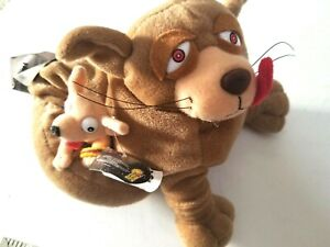 Farce Wars Fantom Meanies Slobba Mutt  Stuffed  Plush Animal Dog 1997 Vintage