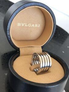 Authentic BVLGARI B ZERO 5 Band Ring 18ct White Gold