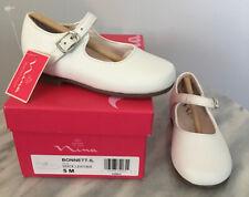 Nina Kids Bonnett Mary Jane Shoes WHITE  Leather Size US 5  EUR 21