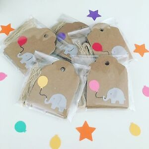 10 Elephant Gift Tags | Baby Shower | Christening | Birthday | New Baby Tags