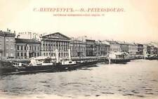 ST PETERSBURG, RUSSIA ~ ENGLISH QUAY OVERVIEW, SHIPS ~ c. 1902
