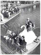 1966 Original Photo Arthur Fiedler pilots boat in water at Pub Gardens in Boston
