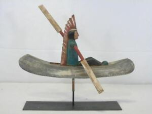 Vintage Bill Huebbe Indian Whirligig American Signed Art Decor NYC