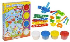 23pc Play Dough Kids Tubs Alphabet ABC Number Cutter Press Shaper Children Xmas