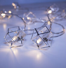 Silver Pendant String Lights 20 LED Boho Chic Home Decor Apartment Nursery Dorm