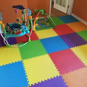 36 Squares Foam Floor Mats for Kids /& Babies Nursery MioTetto Soft Non-Toxic Foam Baby Play Mat Toddler Playmat EVA Foam Interlocking Tiles for Gym Colorful Jigsaw Puzzle Play Mat Playroom