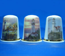 Birchcroft Thimbles -- Set of Three -- Lighthouses no 2