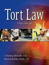 """""""GOOD COND"""" TORT LAW 5TH US EDITION (2011) Edwards Wells"""