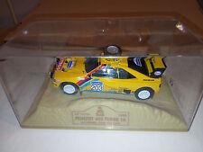 peugeot 405 rally dakar turbo 1990 vatanen berglund in diorama sulla sabbia