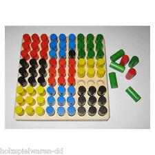 Egermann 2194 Steckspiel große Reihe mit 110 bunten Steckern Holz NEU # Holzspielzeug