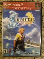 Final Fantasy X 10  PS2 Sony PlayStation 2 2001 Greatest Hits TESTED NO MANUAL