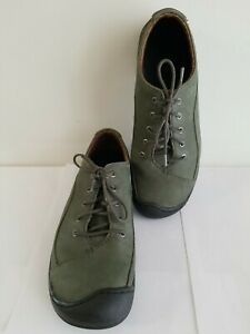 Keen Sterling City Lace Shoes Cush Forest Green Suede Leather Size 10 (27cm.)