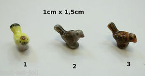 oiseau miniature,maison de poupée,mini vitrine,collection,porcelaine,vogel  *CL5