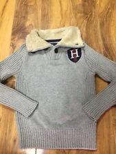 Tommy Hilfiger Boys Cardigan With Fur Lined Collar Size XS (4-5 Years Old)