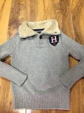 Tommy HILFIGER CARDIGAN niños con cuello forrado de piel talla XS (4-5 Años)