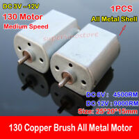 Iron Back Cover All Metal 130 Motor DC3V 6V 9V 12V Carbon Brush for Toy Car Boat