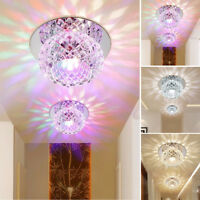 Modern Crystal Colorful LED Ceiling Light Pendant Lamp Porch Chandelier Lighting