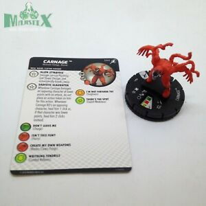 Heroclix Superior Foes of Spider-Man set Carnage #044 Rare figure w/card!