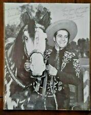 Duncan Renaldo the Cisco Kid & Diablo Horse Autographed Picture 8X10 B&W Photo