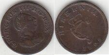 Monnaie 1/2 penny en cuivre de George III 1806 Irlande