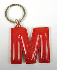 Marc by Marc Jacobs Alphabet Letter Initial Key Ring Chain Charm Holder Red M