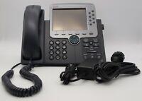 Cisco CP-7970G VoIP IP Phone, PoE, 8 Lines, farbigem Touchdisplay inkl. Netzteil