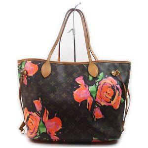 Louis Vuitton Tote Bag M48613 Neverfull MM Browns Monogram Rose 840913