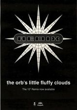 13/11/93PGN18 THE ORBS LITTLE FLUFFY CLOUDS REMIX SINGLE ADVERT 7X5""
